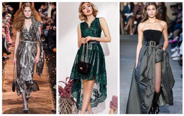 Тренды 2019–2020 — платья с асимметричным подолом