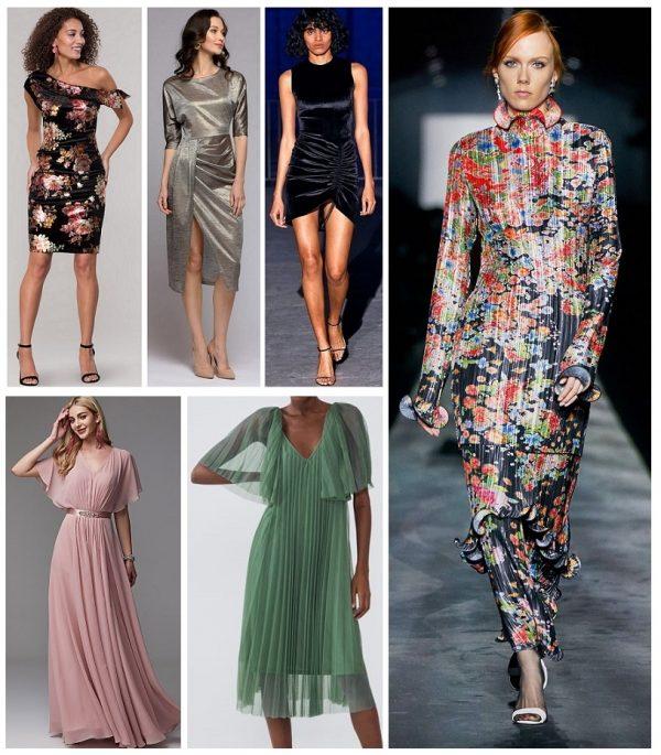 Тренды 2019–2020 — платья с драпировкой и плиссировкой