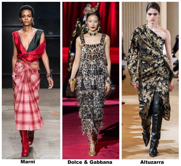 Платья с принтами — мода осень-зима 2019–2020