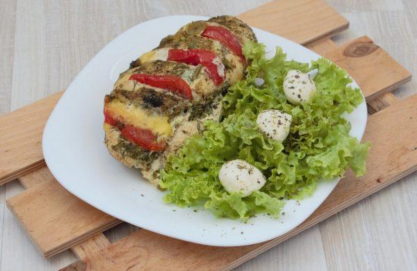 Курица с итальянскими мотивами, запечёная в духовке