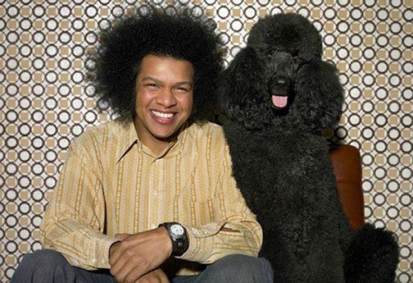 Афроамериканец и его пёс