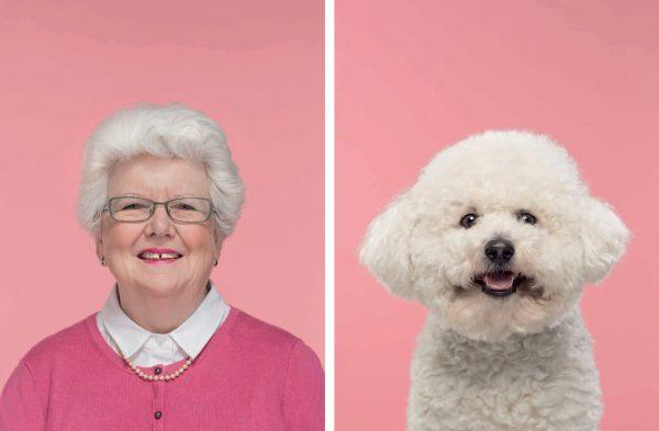 Бабушка и её бишон-фризе