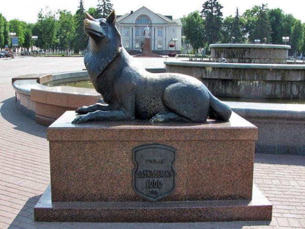Памятник волку в Волковыске