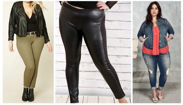 Облегающие джинсы на полных женщинах