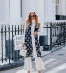 Белый комплект с контрастным шарфом