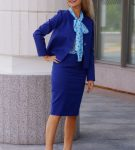 Синий деловой костюм