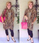 Леопардовое платье для женщины 40+
