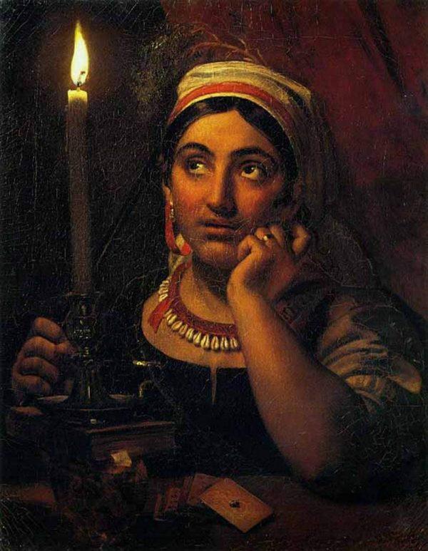 «Гадалка со свечой», Кипренский