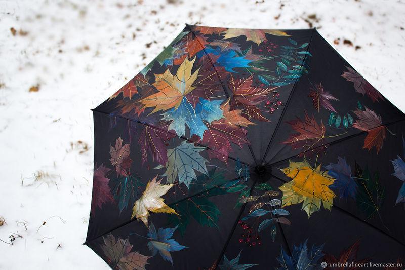 женщина под чёрным зонтом