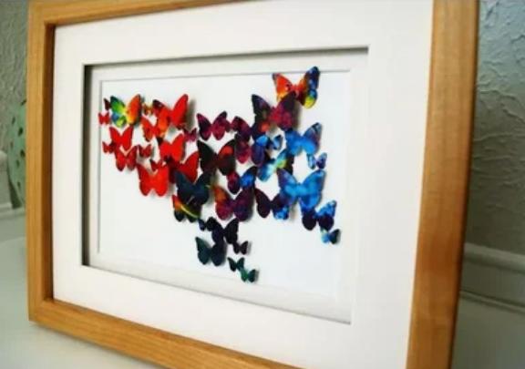 Панно из бабочек