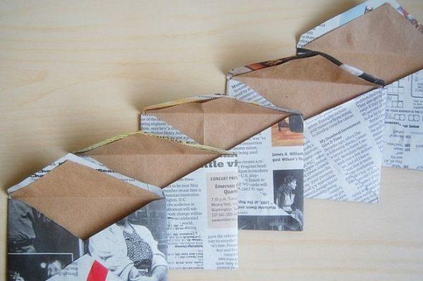 Конверты из газет