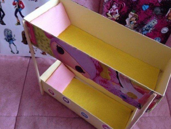 двухэтажная кровать для куклы